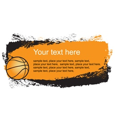 Basketball frame vector