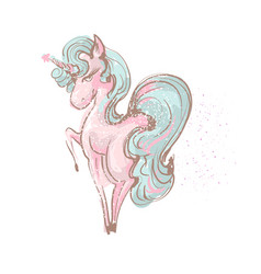 beautiful cute girl unicorn with long lashes vector image