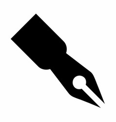 black pen icon vector image