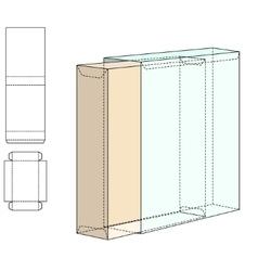 Box Die Line template vector image