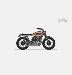 Brown vintage motorcycle vector