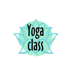 Brush style yoga class logo beauty and spa vector