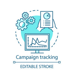 Campaign tracking blue concept icon marketing vector
