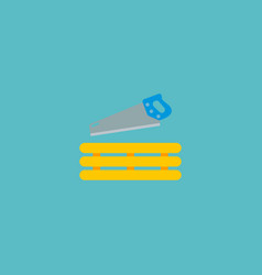 carpentry work icon flat element vector image