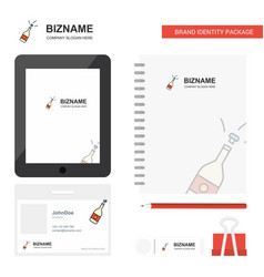 celebrations drink business logo tab app diary vector image