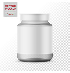 Clear glass medicine bottle template vector