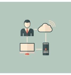 Cloud Computing Flat Icon vector image