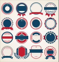 collection retro vintage badges labels and vector image