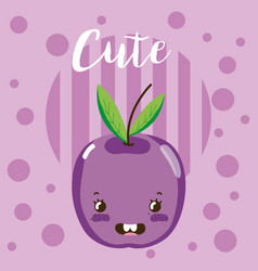 Cute fruit kawaii cartoon vector