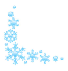 decoration with crystal snowflakes vector image