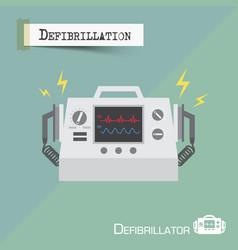 defibrillator machine flat design vector image