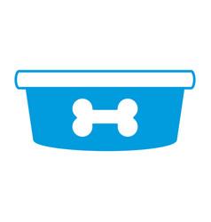 dog food bowl vector image