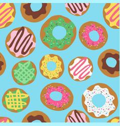 Donut allover blue vector