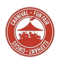 Entertainment carnival funfair banner vector