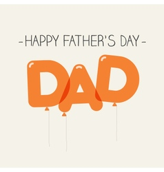 fathers day card balloons dad vector image