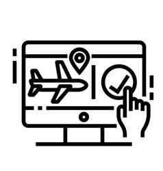 flight booking line icon vector image