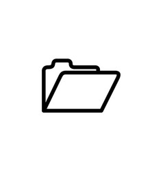 folder line icon in flat style for app ui vector image