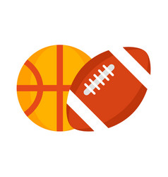 football and basketball balls vector image