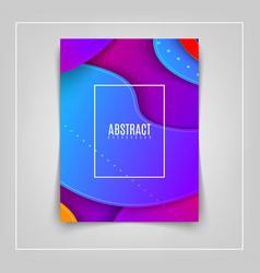 futuristic of bright vector image