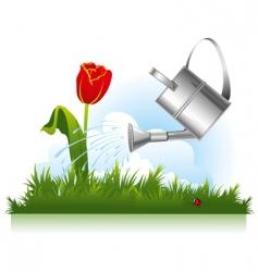 Garden watering vector