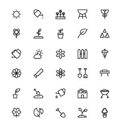 Gardening Line Icons 1 vector image