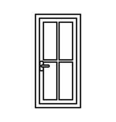 Glass door icon outline style vector image