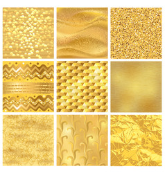 Golden background or gold texture pattern vector