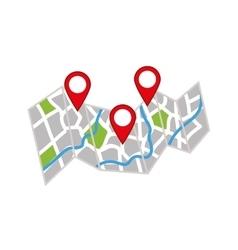 GPS map location vector