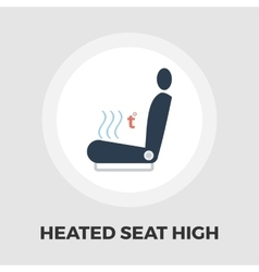Heated seat icon flat vector