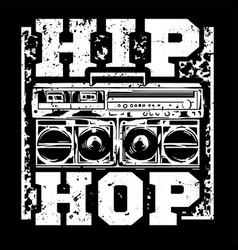Hip hop print vector