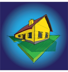 House Diagram vector image