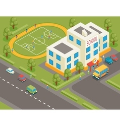 Isometric school or university building 3d vector image