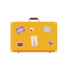 luggage time to travel with valise icon vector image