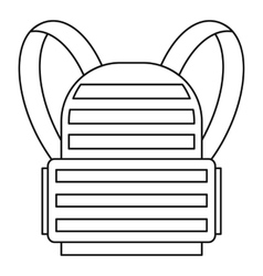 Military backpack icon outline style vector