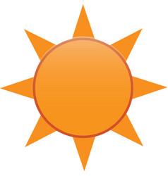 Minimalist bright sun logo design vector