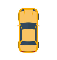 modern flat yellow car vector image