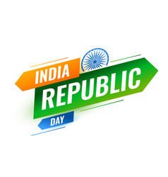 modern indian republic day creative background vector image
