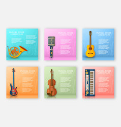 musical background made of different musical vector image