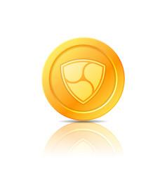 Nem coin symbol icon sign emblem vector