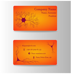 Neurosurgeon or brain doctor business card vector