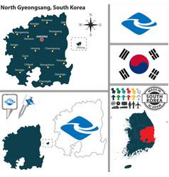 north gyeongsang province south korea vector image