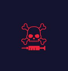 Overdose icon vector