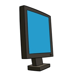 pc monitor vector image