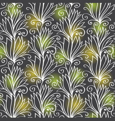 Plant seamless pattern vector