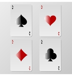 Playing cards aces vector