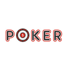 Poker logotype with gambling table instead of vector