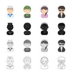 profession vocation hobby and other web icon in vector image