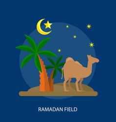 Ramadhan field conceptual design vector
