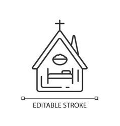 Religious shelter linear icon vector