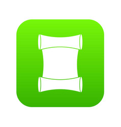 scroll icon digital green vector image